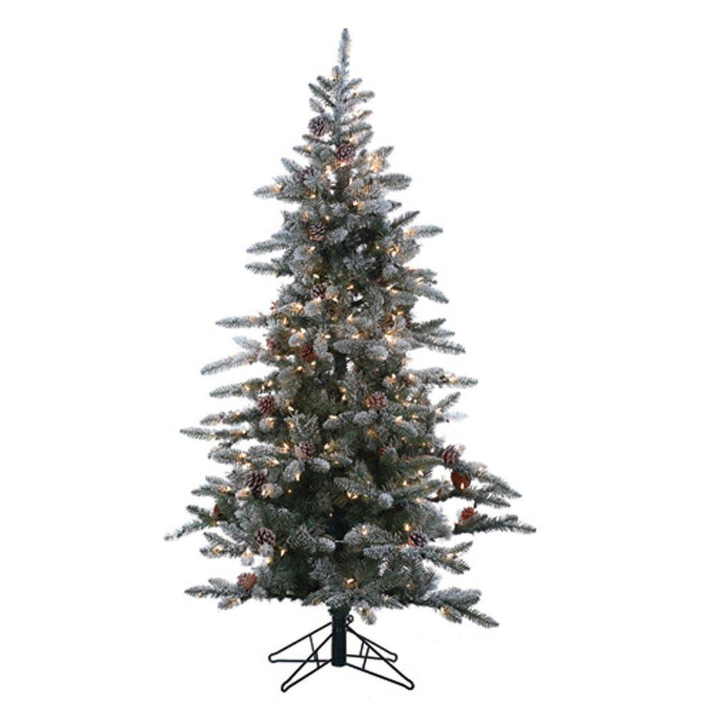 Sterling 6 Ft Pre Lit Lightly Flocked Mckinley Pine