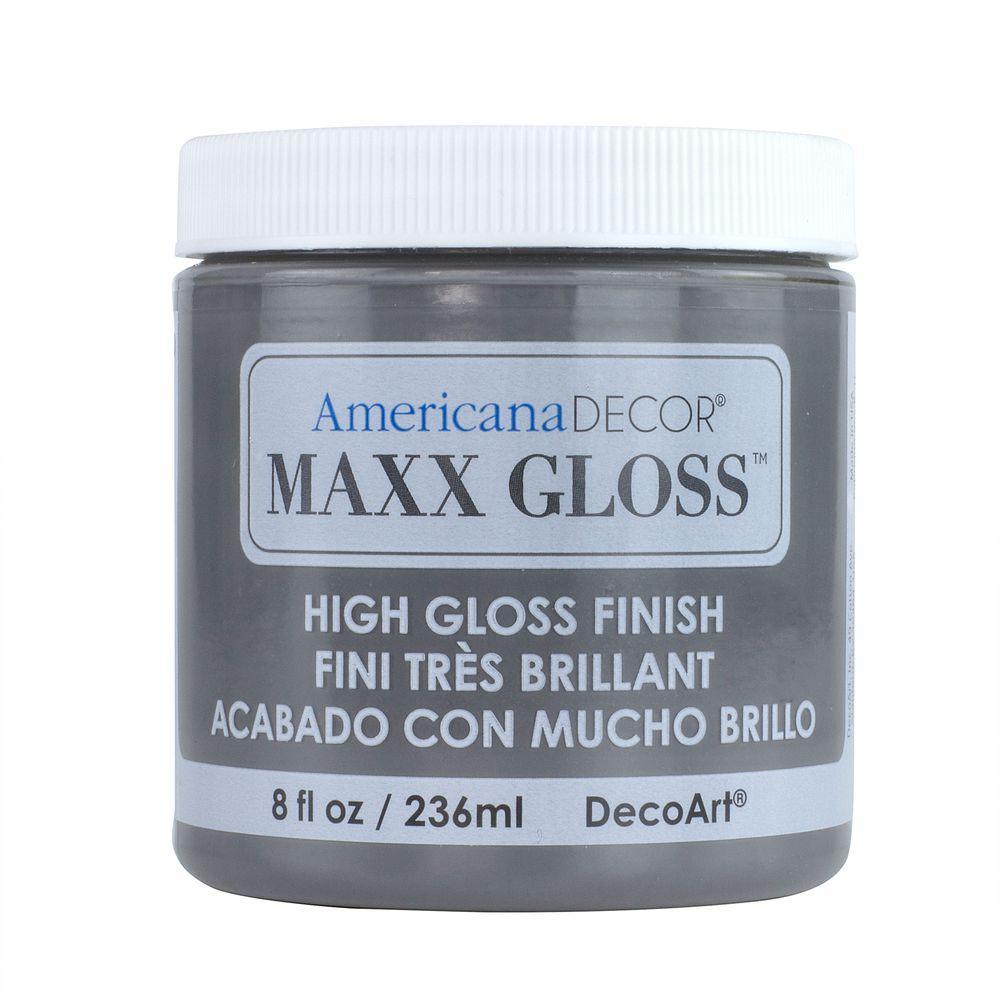 Americana Decor Maxx Gloss 8 oz. Hematite Paint