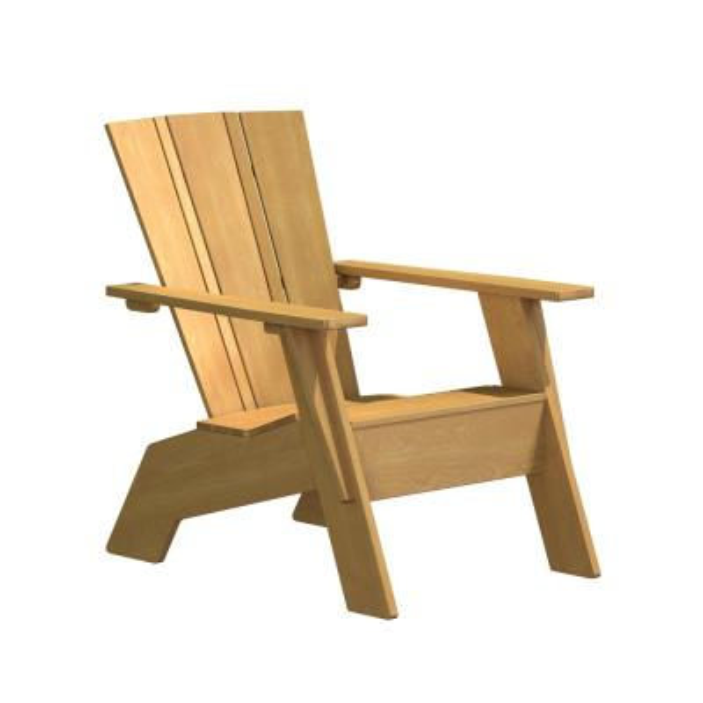 Natural White Oak Wood Outdoor Adirondack chair