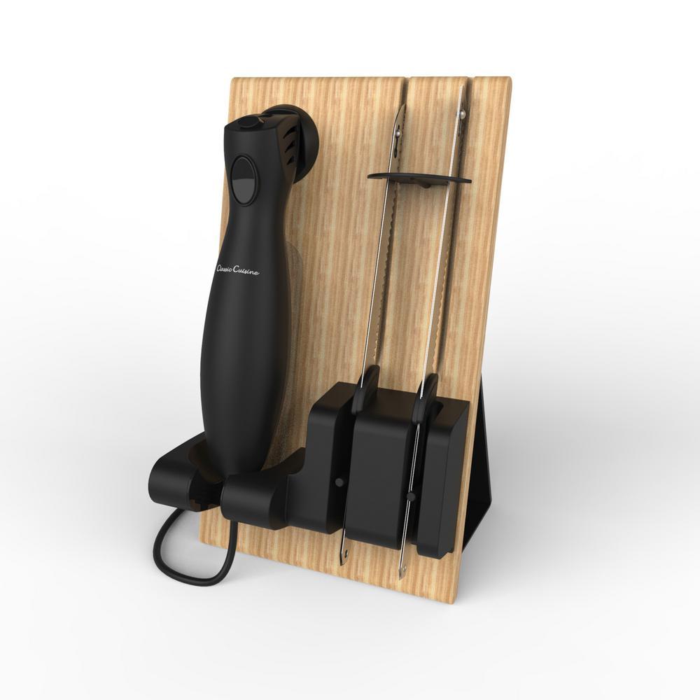 trademark 8 in electric carving knife set hw031014 the. Black Bedroom Furniture Sets. Home Design Ideas
