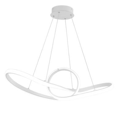 Vornado 25 in. 450-Watt Equivalent Integrated LED White Pendant with Composite Shade