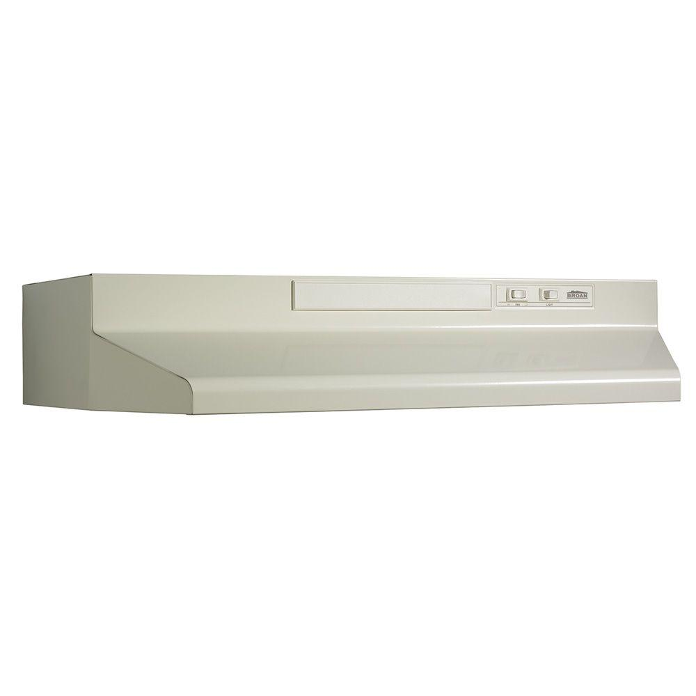 Convertible Under Cabinet Range Hood With Light In Bisque 433022   The Home  Depot