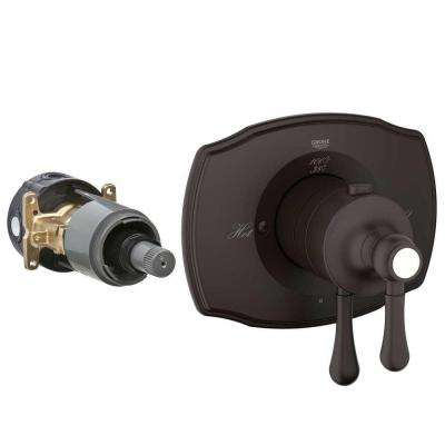 2-Handle GrohFlex Universal Rough-In Box Thermostatic Valve Trim Kit in Oil Rubbed Bronze (Valve Sold Separately)