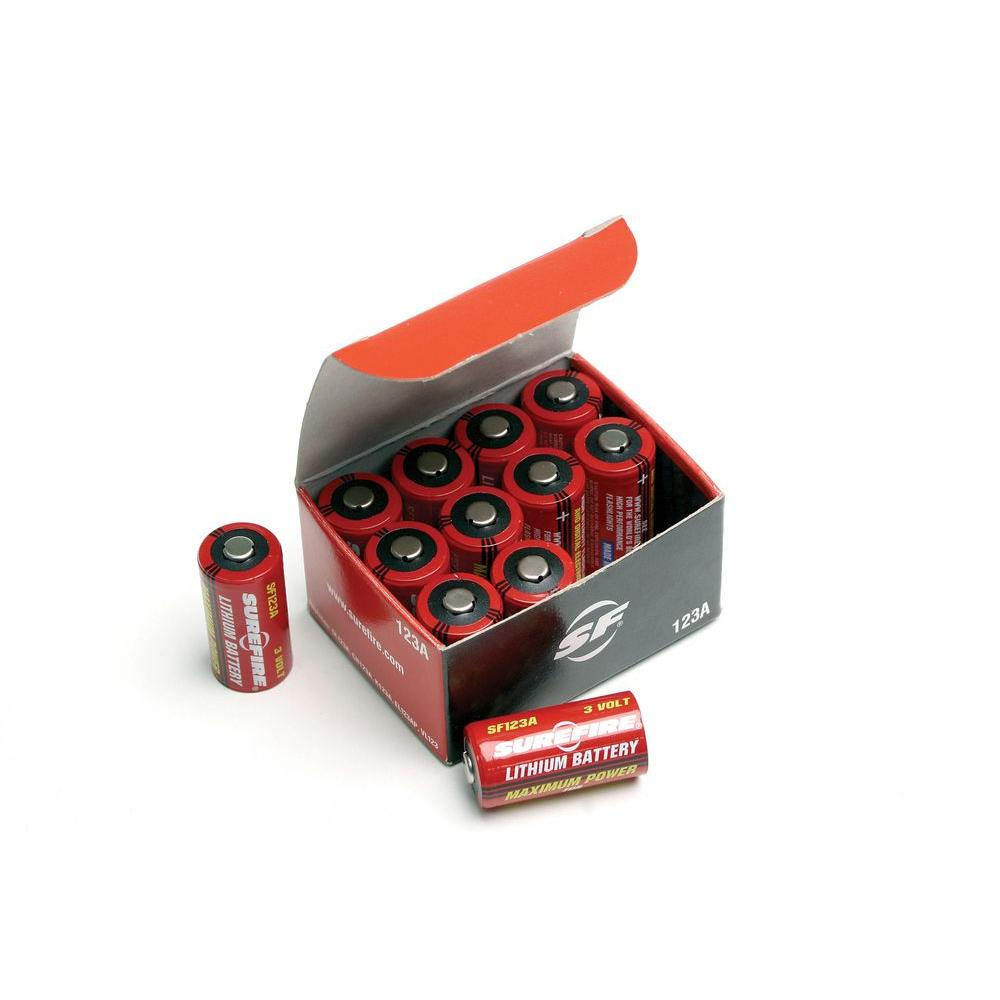 Surefire 3 Volt CR123 Batteries 12 Pack