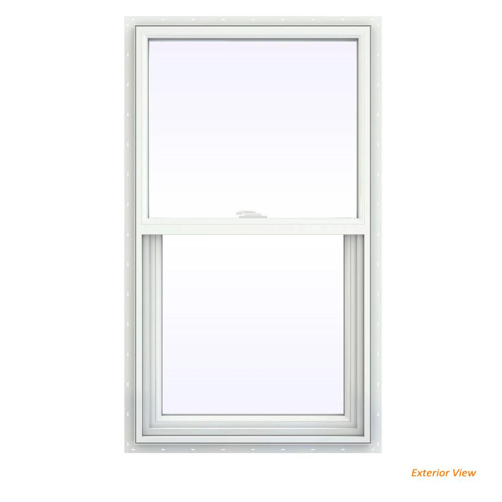 23.5 in. x 35.5 in. V-2500 Series White Vinyl Single Hung