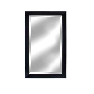26 in. x 41 in. Symphony Black Framed Beveled Wall Mirror