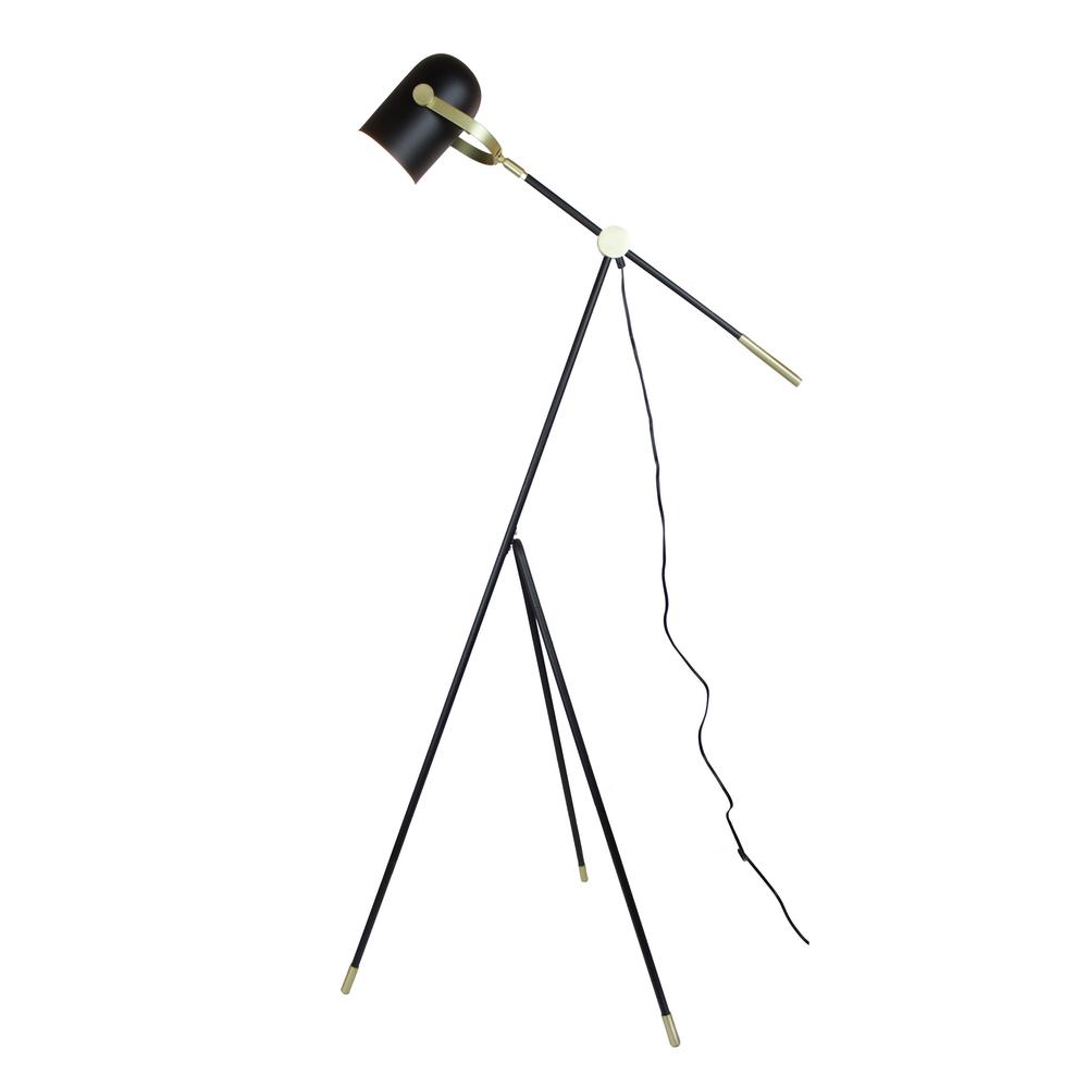 315fbfd9b8acf EQLight Industrial 55 in. Matt Black Floor Lamp with Tripod-EQITFB4 ...