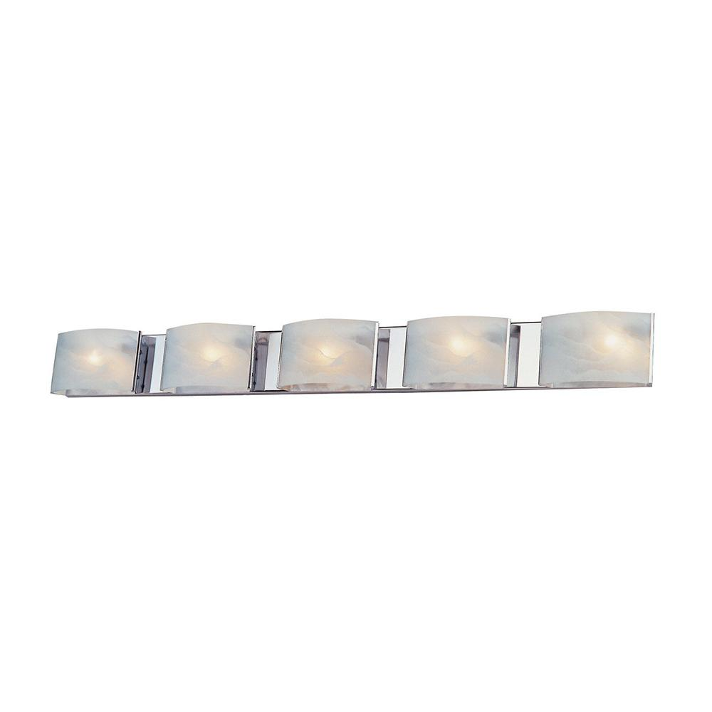 Aleesia 5-Light Satin Nickel Bath Light