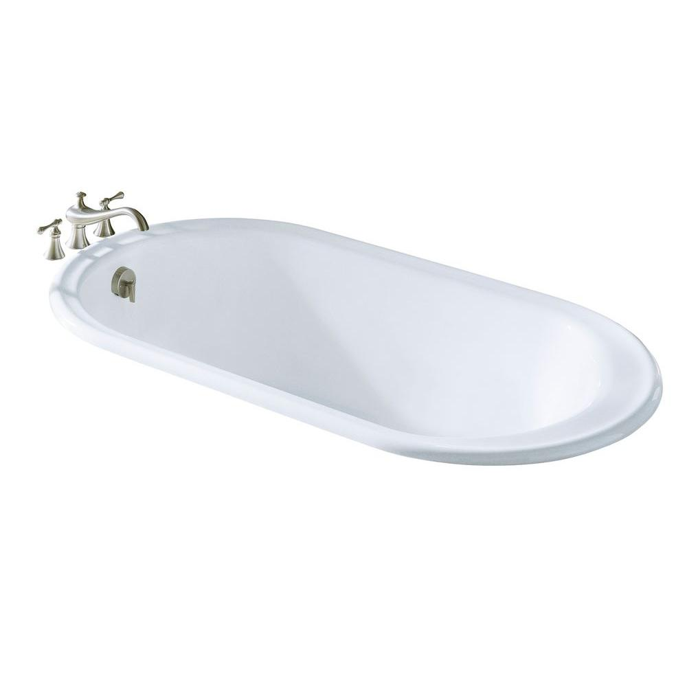 Iron Works 5.5 ft. Reversible Drain Bathtub in White