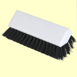 Carlisle Hi-Lo 10 inch Black Polypropylene Scrub Brush (Case of 12) by Carlisle