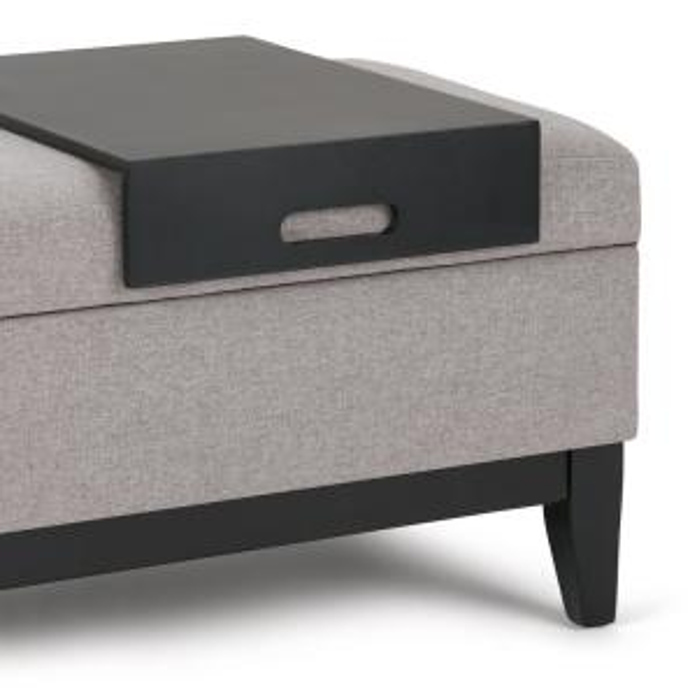 Stupendous Simpli Home Oregon 42 In Transitional Storage Ottoman In Customarchery Wood Chair Design Ideas Customarcherynet