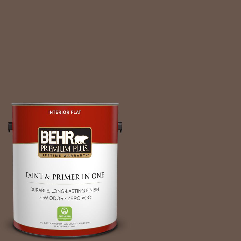 1 gal. #PPU5-02 Aging Barrel Zero VOC Flat Interior Paint
