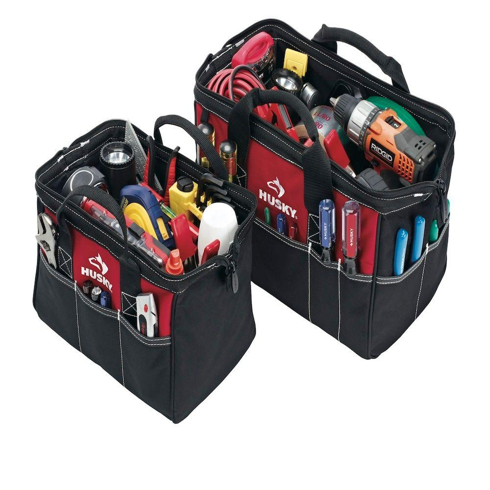 Husky 15 in. and 12 in. Tool Bag Combo