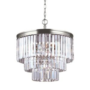 Carondelet 4-Light Antique Brushed Nickel Chandelier with LED Bulbs