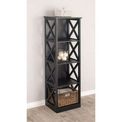 Black Wooden Shelving Unit