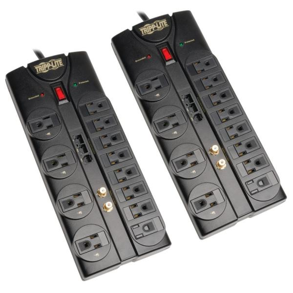 12-Outlet Surge Protector 2-Pack