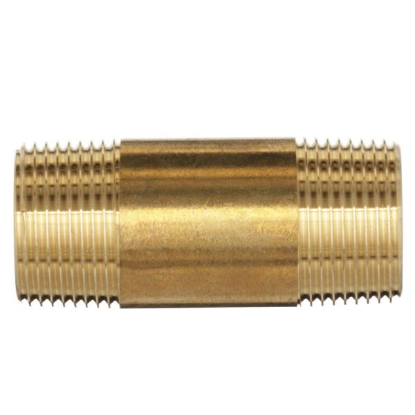 Red Brass Pipe Fitting 3//4 NPT Male X 12 Length by Merit Brass Schedule 40 Seamless Nipple