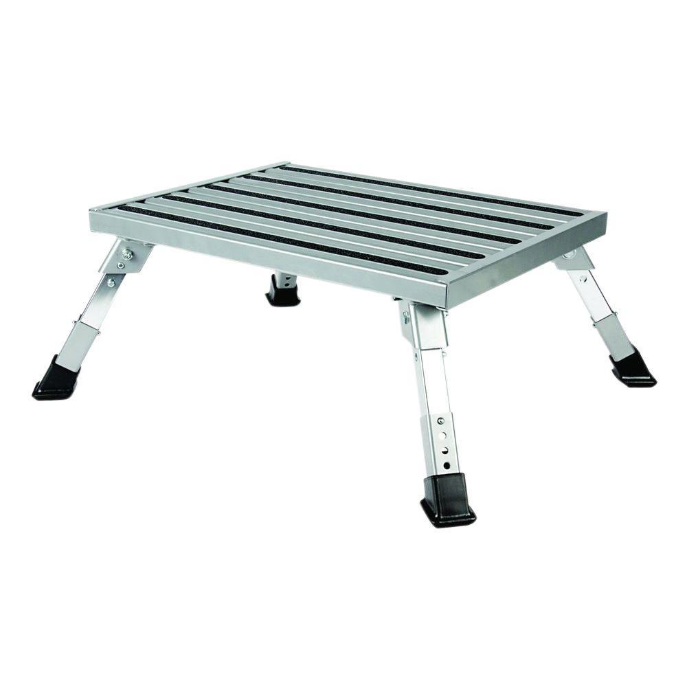 Step Stool, Aluminum Platform Step, Adjustable Height