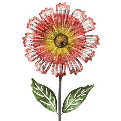 53 in. Cosmo Garden Flower Stake Orange