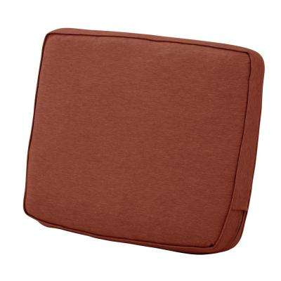 Montlake 21 in. W x 22 in. H x 4 in. Thick Heather Henna Red Outdoor Lounge Chair Back Cushion
