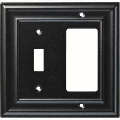 1-Gang Winslow Single Switch and Decorator Wall Plate, Soft Iron