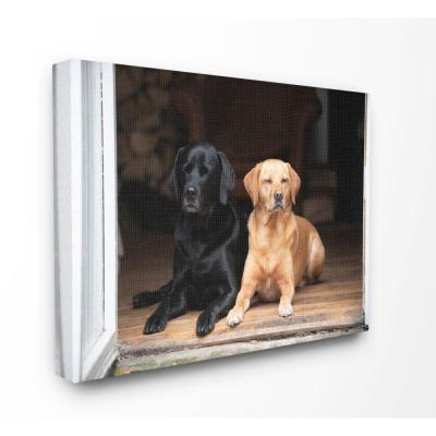 "24 in. x 30 in. ""Best Friends Dog Pet Home Cabin Photo"" by Villager Jim Canvas Wall Art"