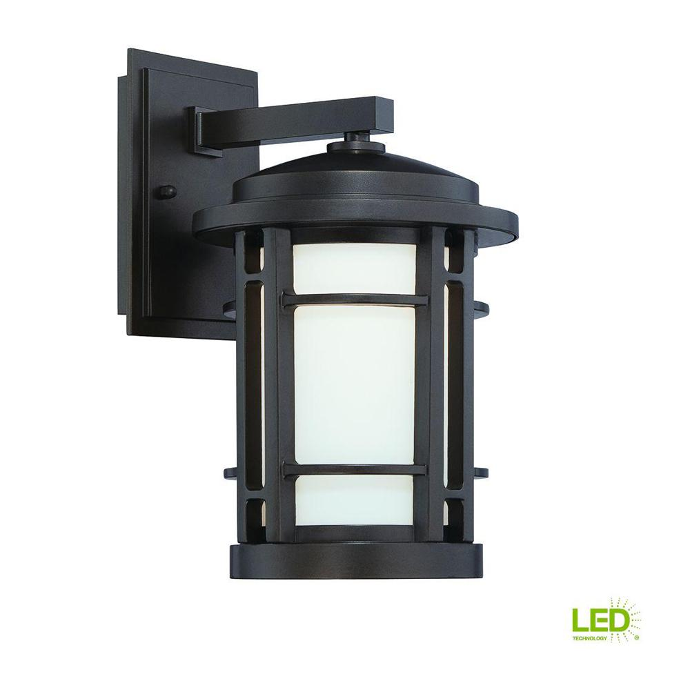 Barrister 9 in. Burnished Bronze LED Wall Lantern