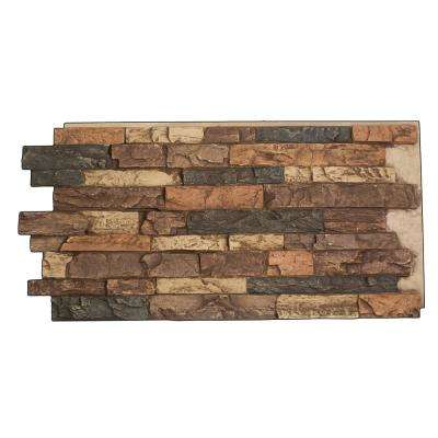 Snodonia Faux Stone Panel 1-1/4 in. x 48 in. x 24 in. Sierra Brown Polyurethane Interlocking Panel