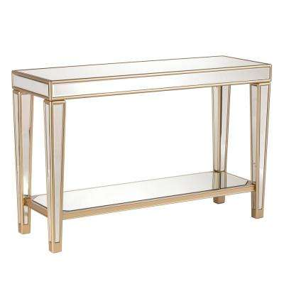 Huntleigh Champagne Mirrored Console Table