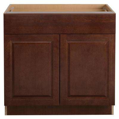 Benton Assembled 36x34.5x24 in. Base Cabinet with Soft Close Full Extension Drawer in Amber