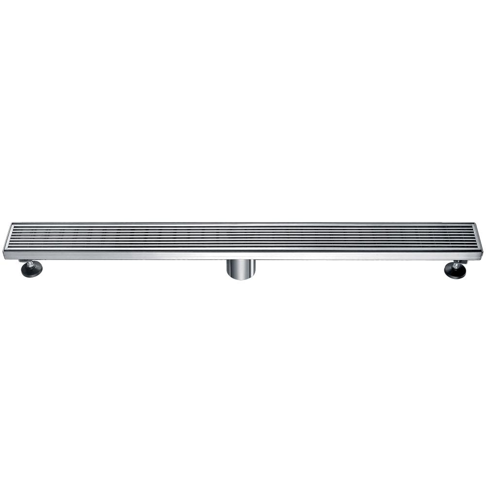 32 in. Linear Shower Drain in Brushed Stainless Steel