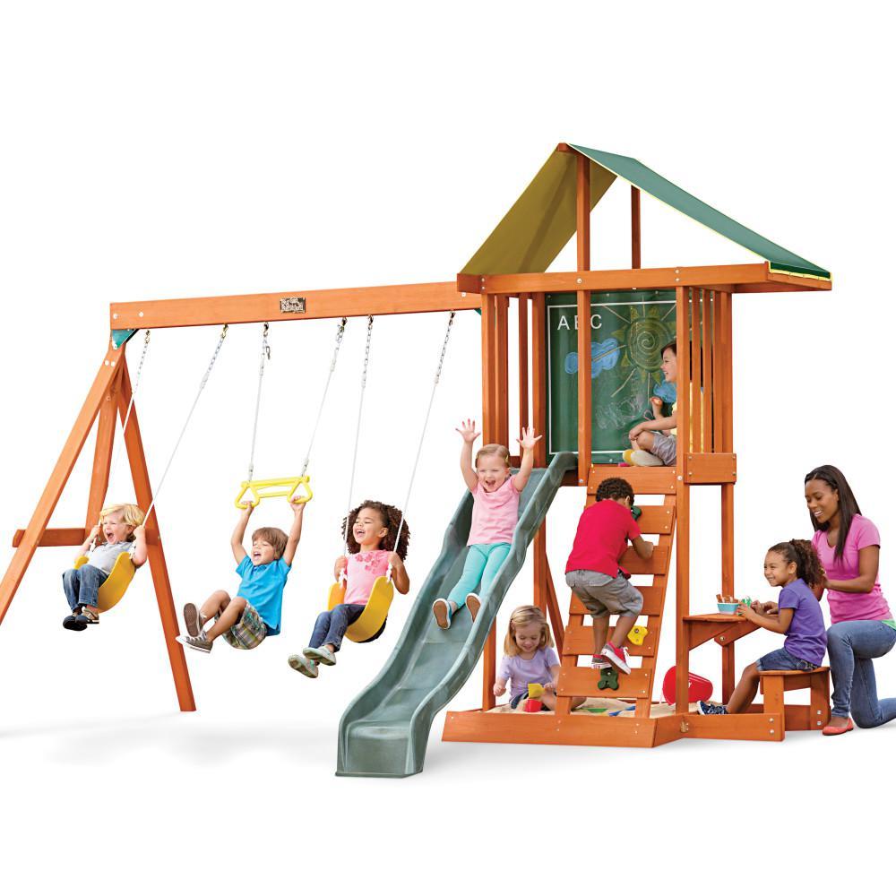 Kidkraft Springfield Ii Cedar Playset F24017 The Home Depot