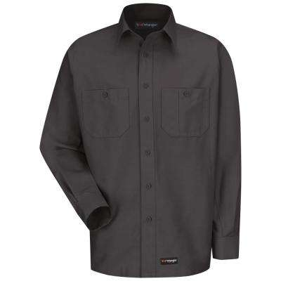 Men's Size L (Tall) Charcoal Work Shirt