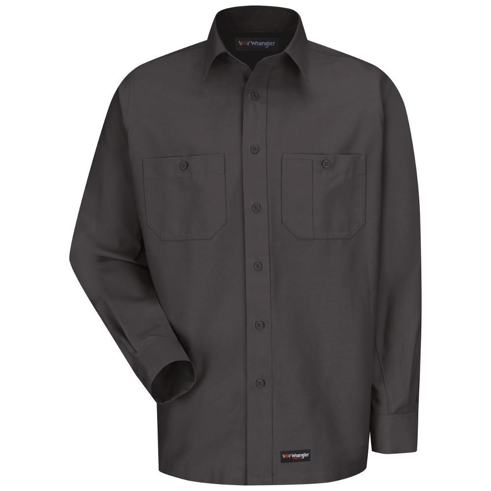 Men's Size 4XL Charcoal Work Shirt