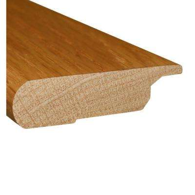 Red Oak Natural 0.8 Thick x 3 in. Wide x 78 in. Length Hardwood Lipover Stair Nose Molding