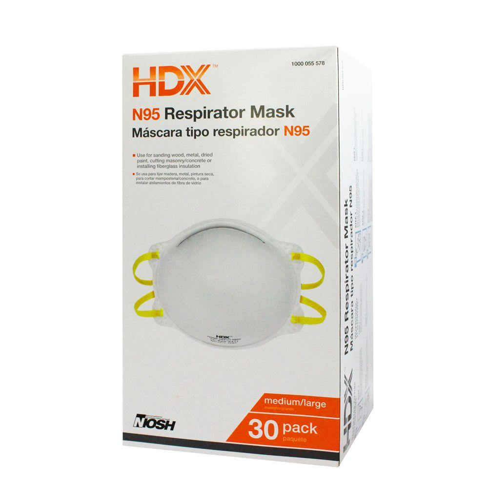 Hdx N95 Disposable Respirator Box 30 Pack H950 The