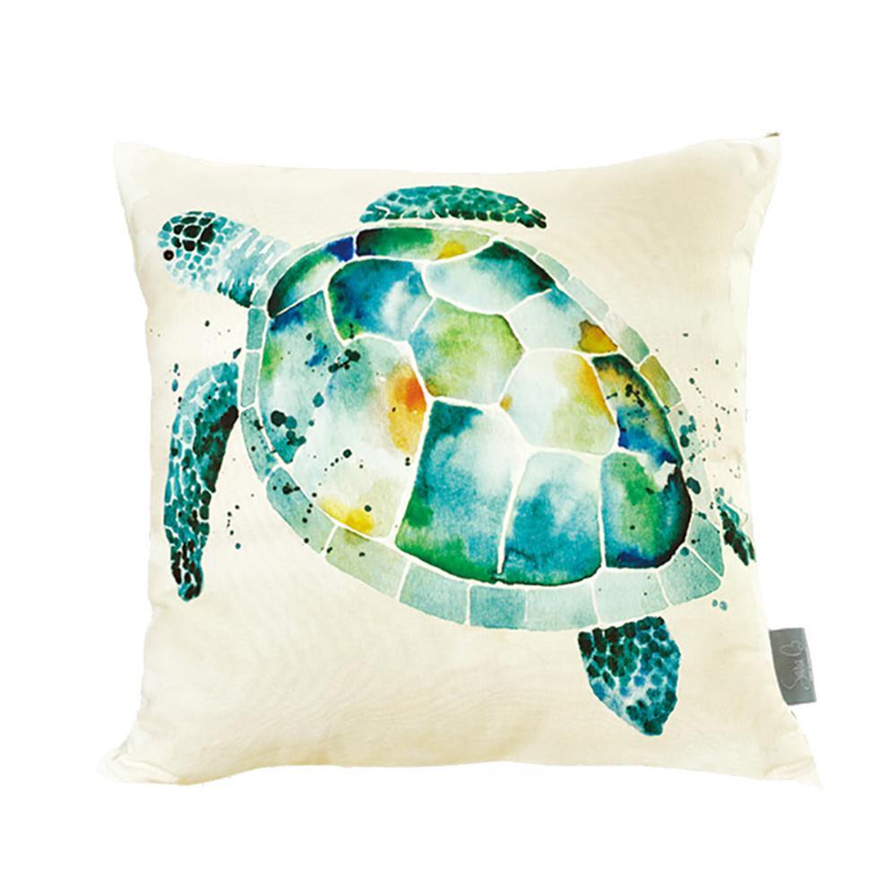 Sea Turtle Mutlicolor Decorative Pillow