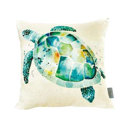 Sea Turtle Mutlicolor Decorative Pillow