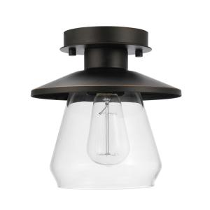 Westinghouse Louis 1 Light Oil Rubbed Bronze Semi Flush Mount 6336000 The Home Depot