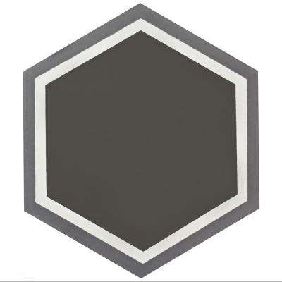 Cemento Hex Holland Passage Encaustic 7-7/8 in. x 9 in. Cement Handmade Floor and Wall Tile