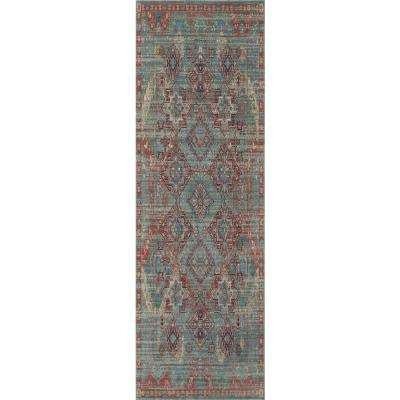 Ambrosia Multi Blue 2 ft. 0 in. x 3 ft. 0 in. Rectangular Accent Rug