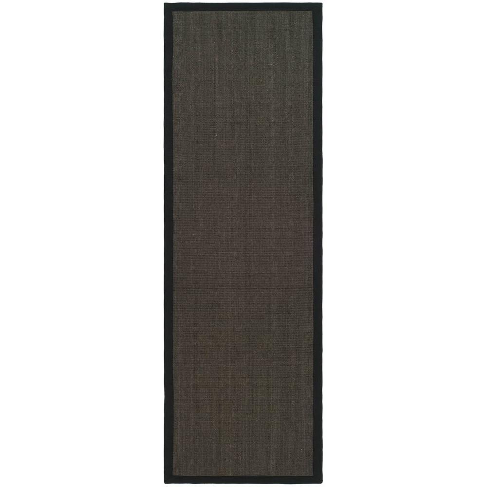 Natural Fiber Charcoal 2 ft. 6 in. x 12 ft. Rug
