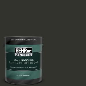 Behr Ultra 1 Gal Mq5 5 Limousine Leather Semi Gloss Enamel Exterior Paint And Primer In One 585301 The Home Depot