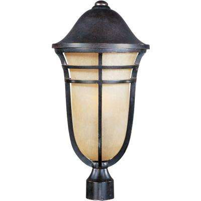 Westport Vivex 1-Light Artesian Bronze Outdoor Pole/Post Mount