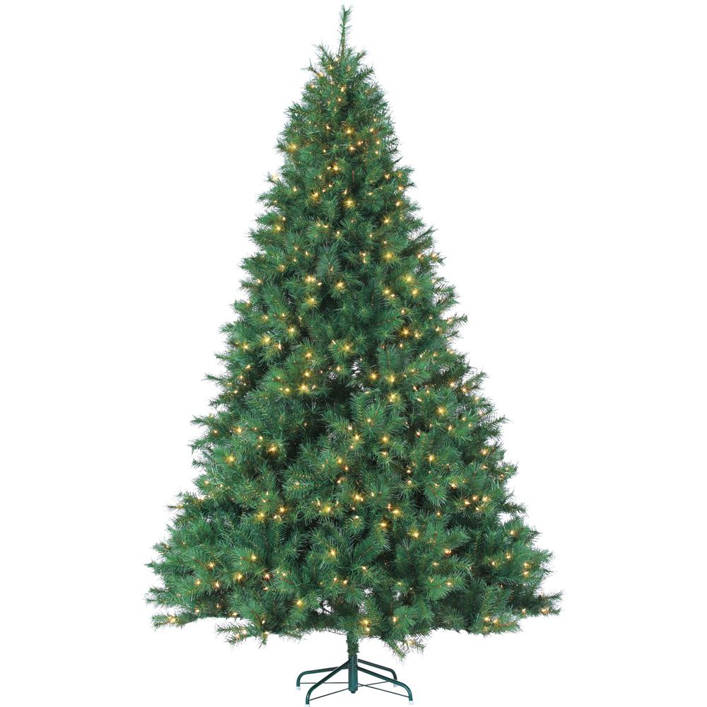 Sterling 9 Ft Pre Lit Mixed Needle Wisconsin Spruce Artificial Christmas Tree With Clear
