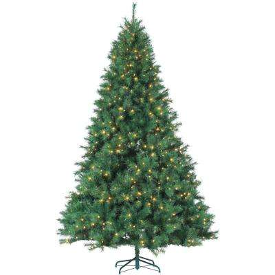 9 ft. Pre-Lit Mixed Needle Wisconsin Spruce Artificial Christmas Tree with Clear Lights