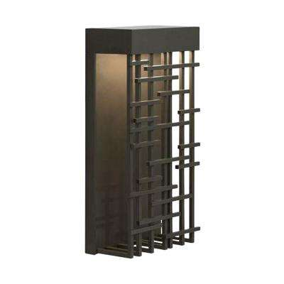 1-Light Bronze Outdoor 14.5 in. Pier 60 LED Wall Mount Sconce