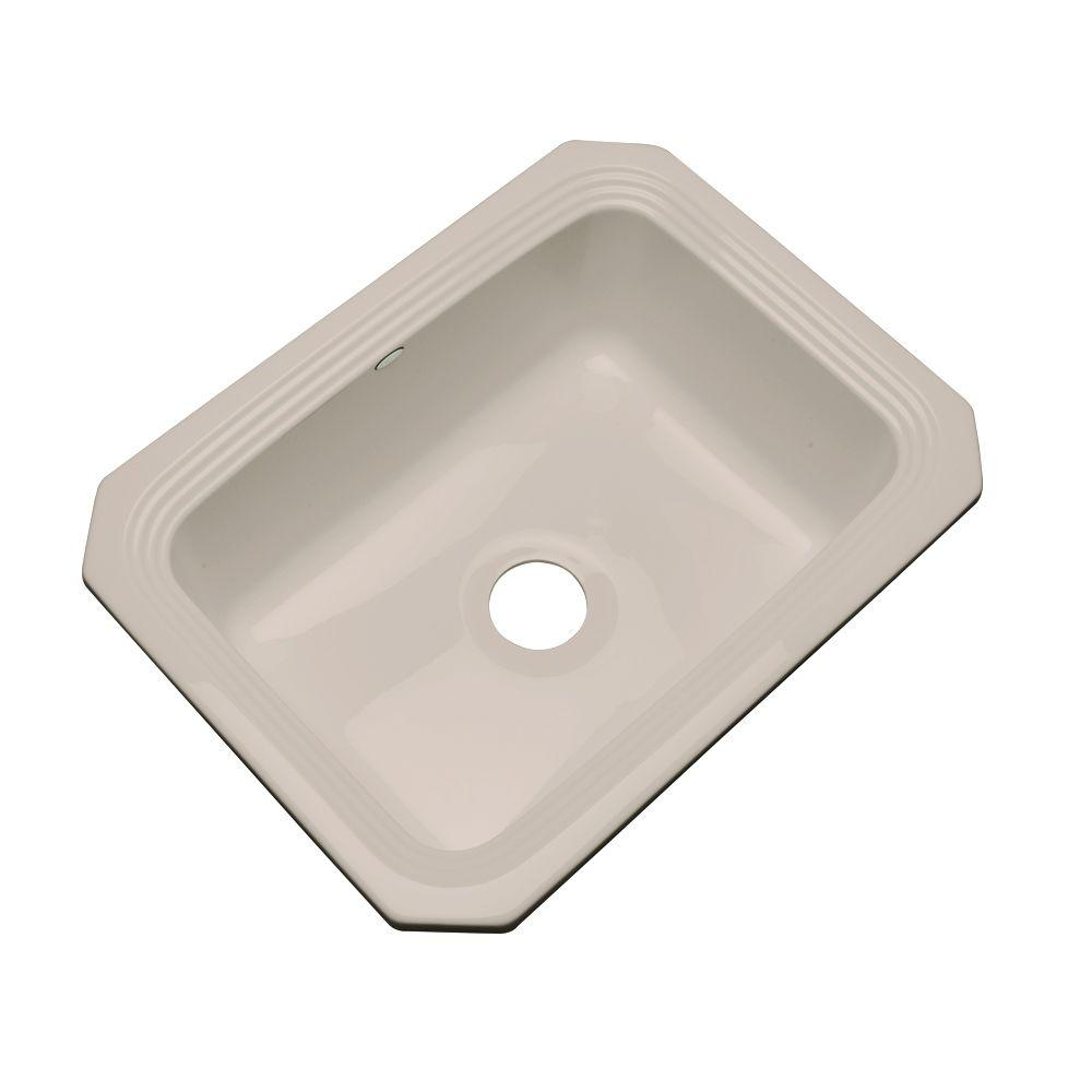 Thermocast Rochester Undermount Acrylic 25 in. Single Bowl Kitchen Sink in Fawn Beige
