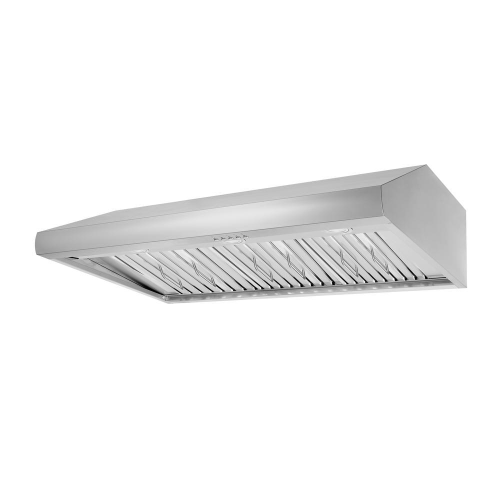 Thor Kitchen 48 in. Under Cabinet Range Hood in Stainless Steel ...