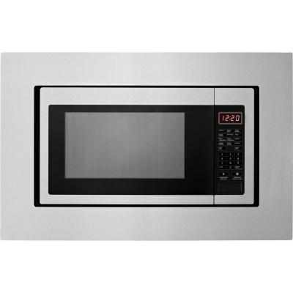 27 in. Microwave Trim Kit in Stainless Steel
